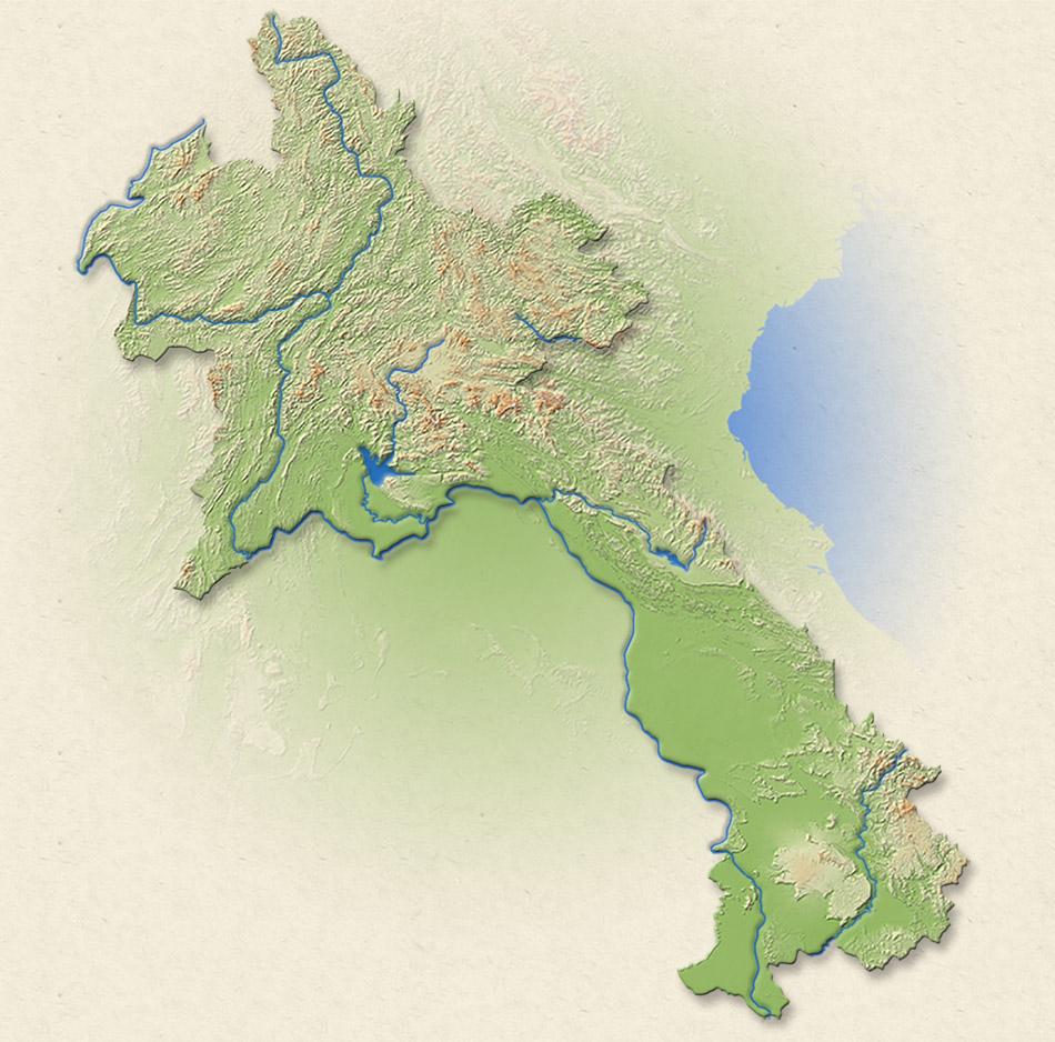 Carte du Laos.