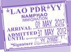 Tampon passeport visa Laos