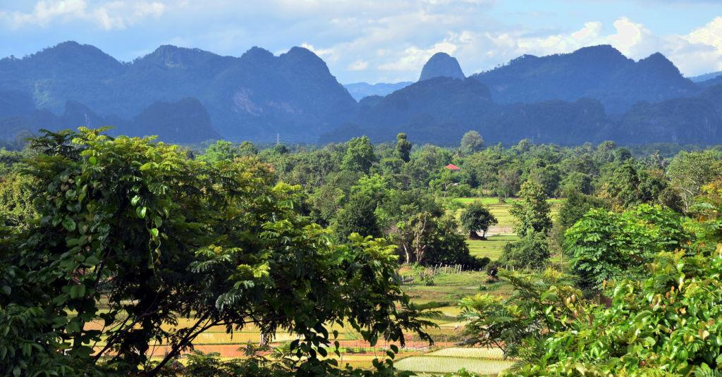 Paysage dans le Khammouane au Laos.