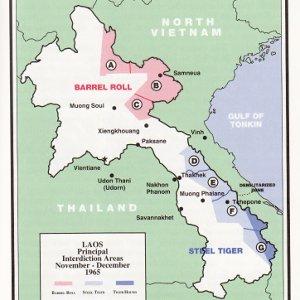 Carte du Laos - la piste Ho Chi Minh