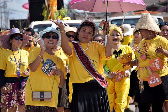 Fête des fusées au Laos.