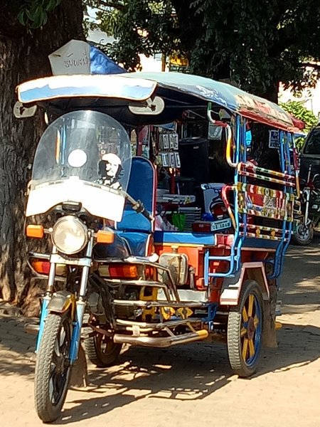 Tuktuk au Laos.