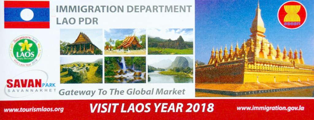Formulaire d'immigration au Laos.