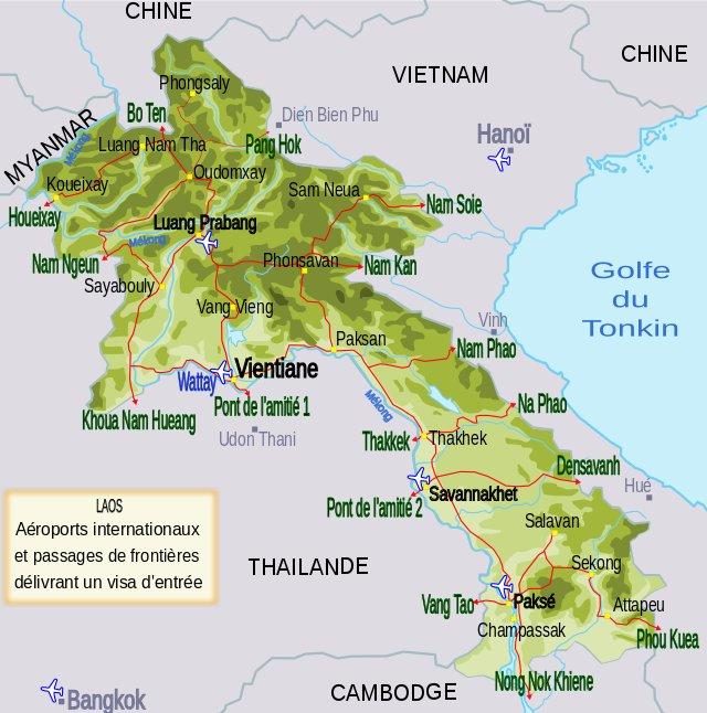 Aéroports internationaux au Laos