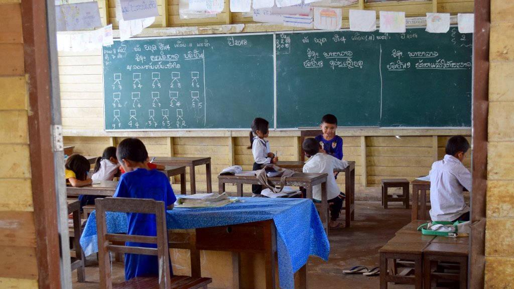 Salle de classe au Laos.
