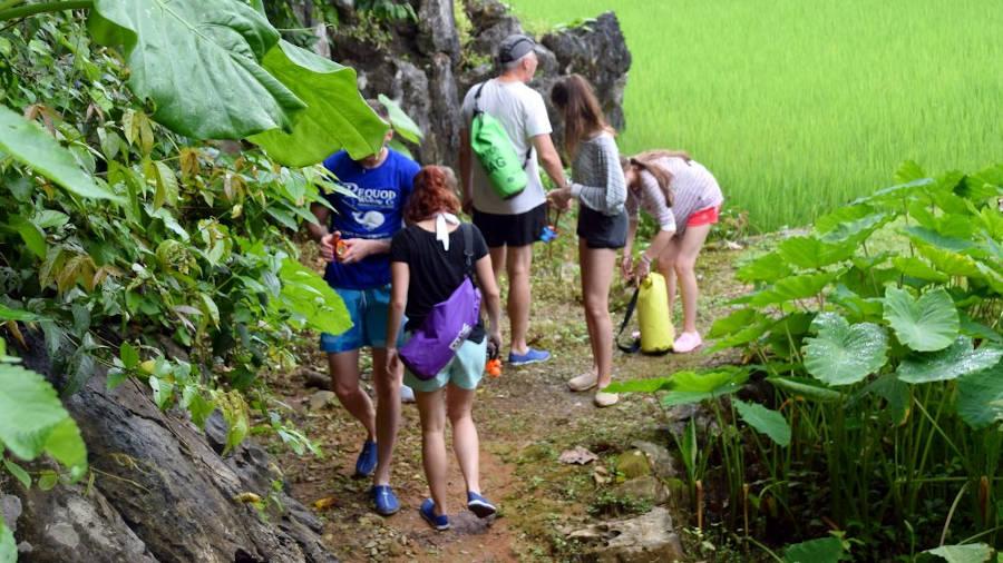 Trek au Laos.