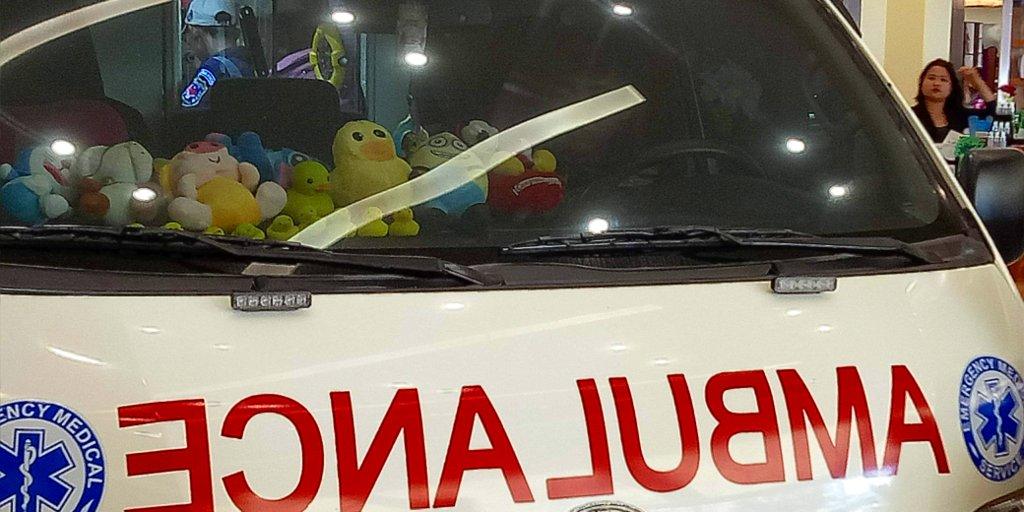 Ambulance au Laos.