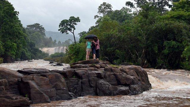 Chute d'eau au Laos.