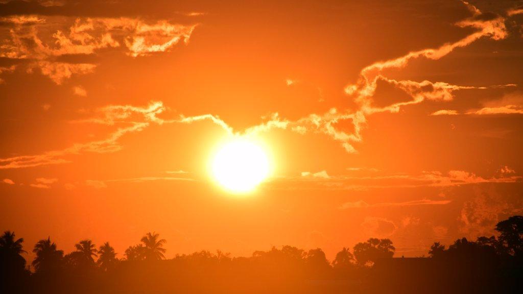 Coucher de soleil au Laos.