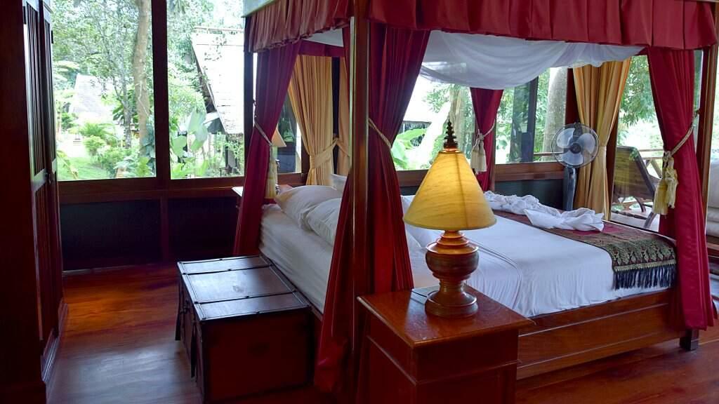 Chambre d'hôtel au Laos.