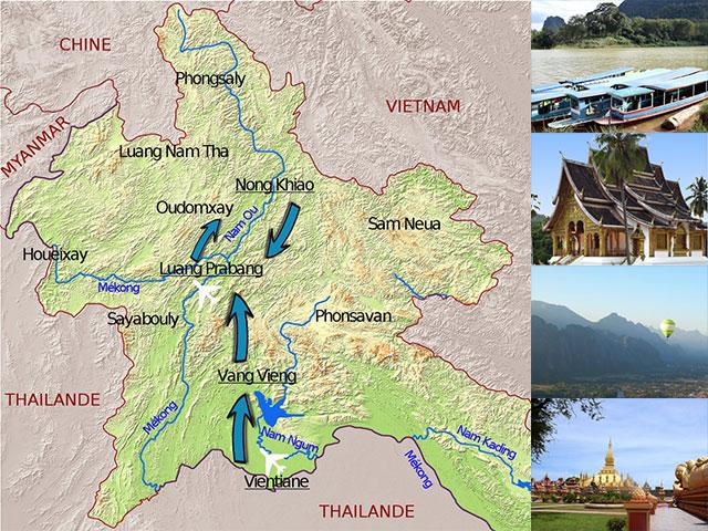 Itinéraire, voyage entre filles au Laos