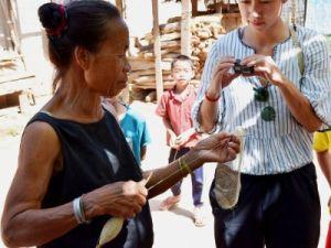 Voyage au Laos, tissage